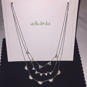 Stella & Dot Pave Chevron Necklace